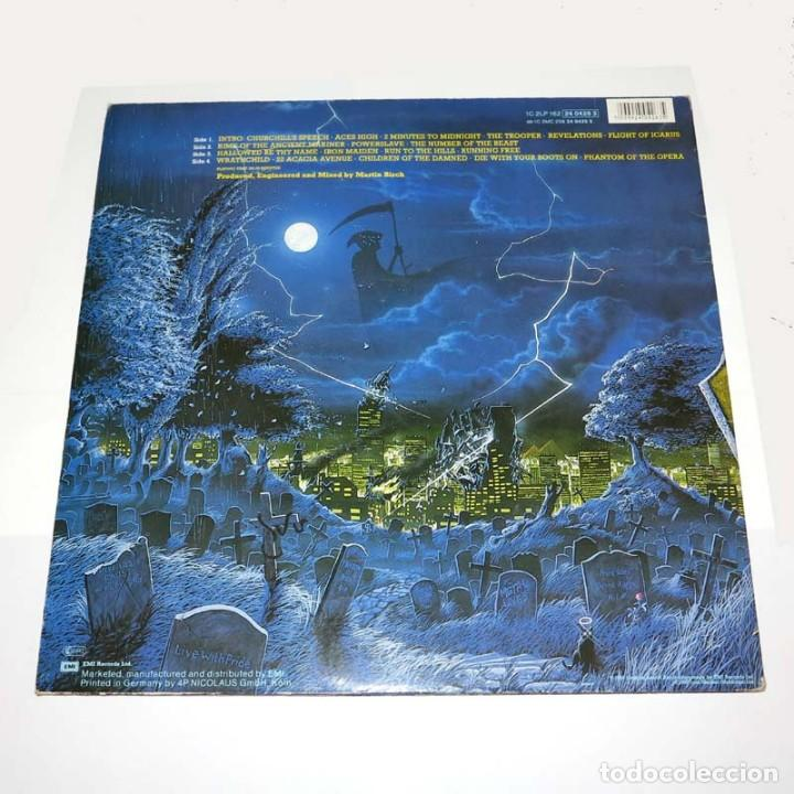 Discos de vinilo: DLP. Disco de vinilo. Iron Maiden - Live After Death. 1988. Heavy Metal - Foto 2 - 89779552