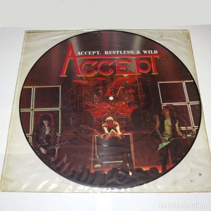 PICTURE LP. DISCO DE VINILO. ACCEPT - RESTLESS & WILD. HEAVY METAL (Música - Discos - LP Vinilo - Heavy - Metal)