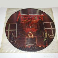 Discos de vinilo: PICTURE LP. DISCO DE VINILO. ACCEPT - RESTLESS & WILD. HEAVY METAL. Lote 89780568