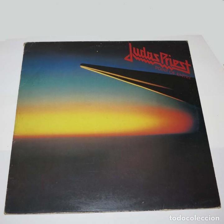 LP. DISCO DE VINILO. JUDAS PRIEST - POINT OF ENTRY . HEAVY METAL (Música - Discos - LP Vinilo - Heavy - Metal)