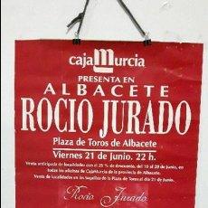 Discos de vinilo: POSTES CONCIERTO ROCIO JURADO 1996 ALBACETE GIRA CON CORAZON. Lote 89781028