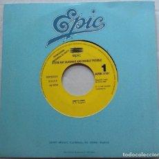 Discos de vinilo: STEVIE RAY VAUGHAN & DOUBLE TROUBLE, EMPTY ARMS, PROMO DE 1 CARA. Lote 89786808