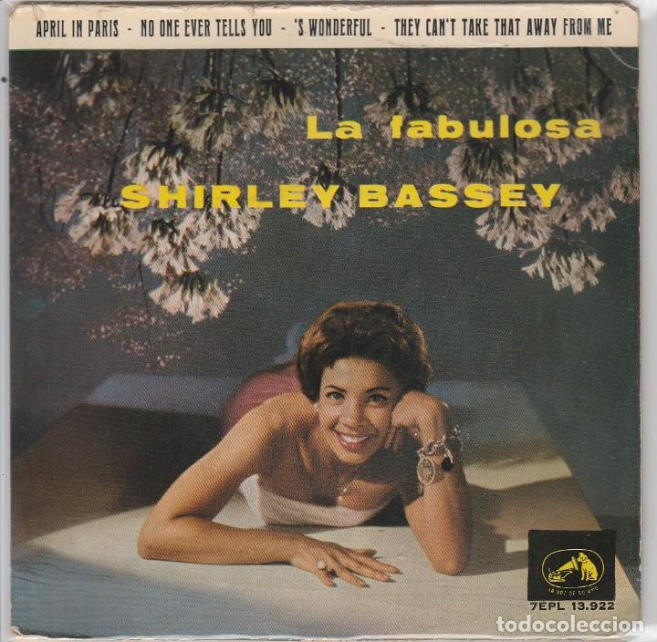 SHIRLEY BASSEY / APRIL IN PARIS + 3 (EP 1963) (Música - Discos de Vinilo - EPs - Pop - Rock Internacional de los 50 y 60)