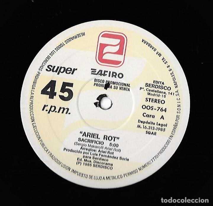 Discos de vinilo: ARIEL ROT: SACRIFICIO / DUERME EN PAZ - Foto 3 - 89815044