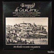 Discos de vinilo: TEMPO(S) DE COIMBRA (OITO DÉCADAS NO CANTO E NA GUITARRA) - 6 LP FADO. Lote 89824008