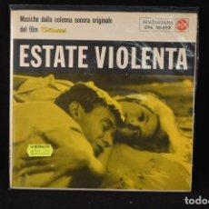 Discos de vinilo: TEDDY RENO – ESTATE VIOLENTA - EP . Lote 89829224