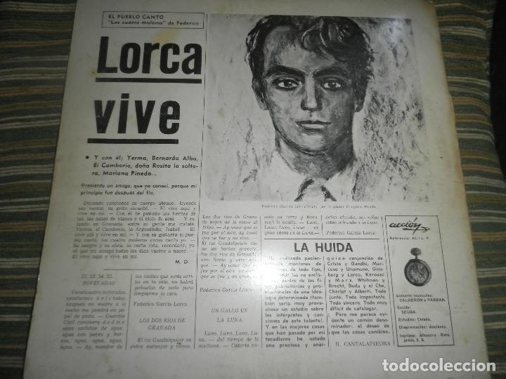 Discos de vinilo: AGUAVIVA - CADA VEZ MAS CERCA LP - ORIGINAL ESPAÑOL - ACCION RECORDS 1970 - GATEFOLD COVER - - Foto 2 - 89832412