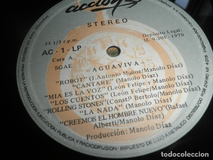 Discos de vinilo: AGUAVIVA - CADA VEZ MAS CERCA LP - ORIGINAL ESPAÑOL - ACCION RECORDS 1970 - GATEFOLD COVER - - Foto 19 - 89832412