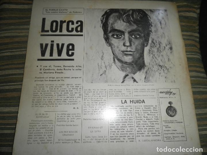 Discos de vinilo: AGUAVIVA - CADA VEZ MAS CERCA LP - ORIGINAL ESPAÑOL - ACCION RECORDS 1970 - GATEFOLD COVER - - Foto 23 - 89832412