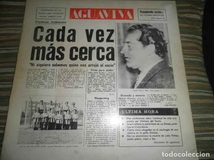 Discos de vinilo: AGUAVIVA - CADA VEZ MAS CERCA LP - ORIGINAL ESPAÑOL - ACCION RECORDS 1970 - GATEFOLD COVER - - Foto 24 - 89832412