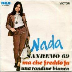 Discos de vinilo: NADA - SANREMO 69 - SG SPAIN 1969 - RCA VICTOR 3-10383. Lote 89848116