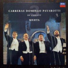 Discos de vinilo: LP CARRERAS, DOMINGO, PAVAROTTI EN CONCIERTO - ZUBIN MEHTA - DECCA 1990.. Lote 89855860