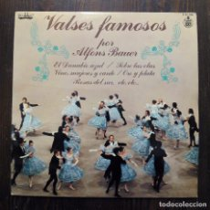 Discos de vinilo: LP VALSES FAMOSOS POR ALFONS BAUER - HISPAVOX 1978.. Lote 89860064