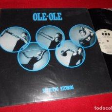 Discos de vinilo: OLE OLE BATIENDO RECORDS. CONSPIRACION/CARMEN +2 12 MX 1983 CBS PROMO MOVIDA POP RARO EXCELENTE . Lote 89881512