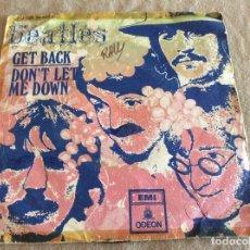 Discos de vinilo: THE BEATLES. GET BACK / DON´T LET ME DOWN. EMI, ODEON 1969. Lote 89966004