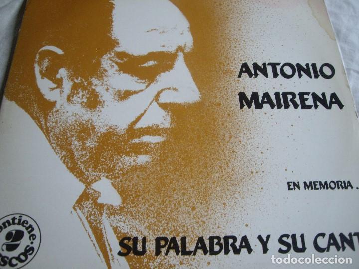 ANTONIO MAIRENA SU PALABRA Y SU CANTE-DOBLE LP (Música - Discos - LP Vinilo - Flamenco, Canción española y Cuplé)