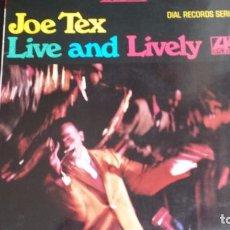 Discos de vinilo: VINILO JOE TEX: LIVE AND LIVELY. Lote 90056836