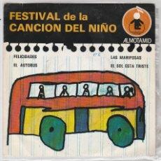 Discos de vinilo: FESTIVAL DE LA CANCION DEL NIÑO ALMOTAMID Nº 2 / EL AUTOBUS + 3 (EP 1979). Lote 90069536