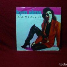 Discos de vinilo: KYM SIMS / TAKE MY ADVICE ORIGINAL 7'' / TAKE MY ADVICE URBAN 7'' / ATCO, 1992, WEA INTERNACIONAL.. Lote 90070476