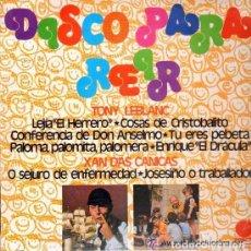 Discos de vinilo: TONY LEBLANC / XAN DAS CANICAS - DISCO PARA REÍR - LP IMPACTO 1975. Lote 90081204
