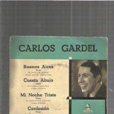 Discos de vinilo: CARLOS GARDEL BUENOS AIRES. Lote 90081812