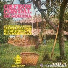 Discos de vinilo: ORFEON CONDAL DE NOREÑA - EL QUIROSANU- EP CANCIONES ASTURIASNAS Nº1 HISPAVOX 1963. Lote 90089848
