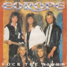 Discos de vinilo: EUROPE - ROCK THE NIGHT - SINGLE DE VINILO EDICION ESPAÑOLA. Lote 90092620