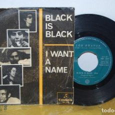 Discos de vinilo: SINGLE - LOS BRAVOS - BLACK IS BLACK / I WANT A NAME - COLUMBIA ME 265 - 1966 - ERROR SIN LA K. Lote 90093660