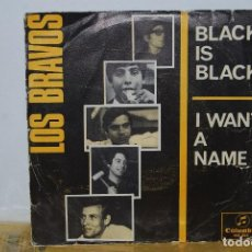 Discos de vinilo: SINGLE - LOS BRAVOS - BLACK IS BLACK / I WANT A NAME - COLUMBIA ME 265 - 1966 . Lote 90094512