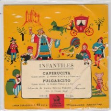 Discos de vinilo: INFANTILES (CUENTOS) / CAPERUICTA / PULGACITO (EP 1958). Lote 90110516