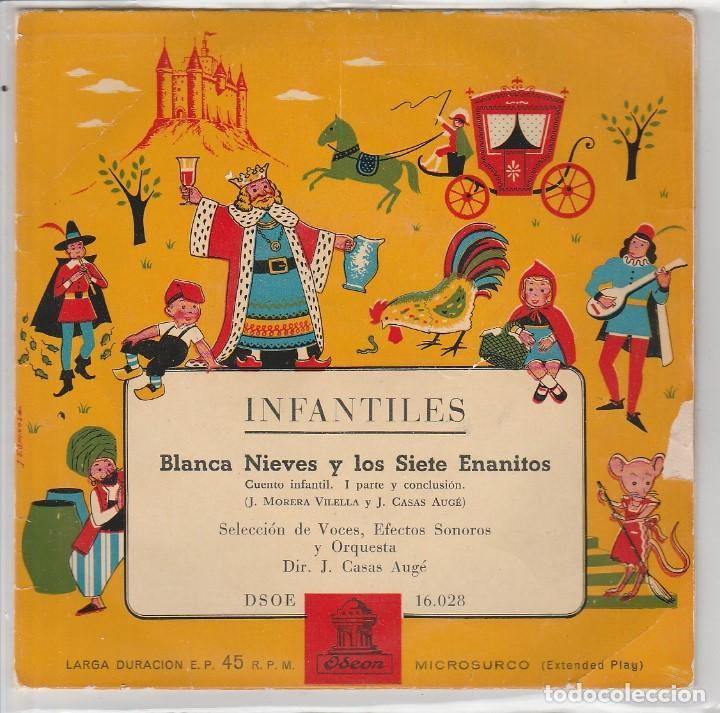 INFANTILES (CUENTOS) / BLANCA NIEVES Y LOS SIETE ENANITOS (EP 1959) (Música - Discos de Vinilo - EPs - Música Infantil)