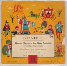 Discos de vinilo: INFANTILES (CUENTOS) / BLANCA NIEVES Y LOS SIETE ENANITOS (EP 1959). Lote 90110660