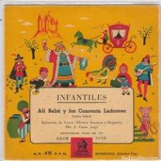Discos de vinilo: INFANTILES (CUENTOS) / ALI BABA Y LOS CUARENTA LADRONES (EP 1959). Lote 90110724
