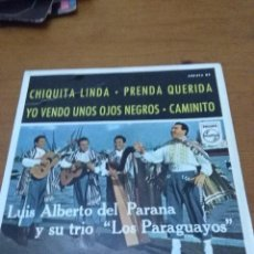 Discos de vinilo: LUIS ALBERTO DEL PARANA Y SU TRIO LOS PARAGUAYOS. CHIQUITA LINDA. MB2. Lote 90122508