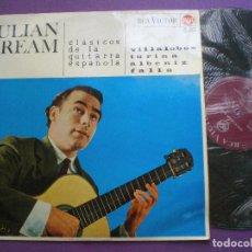 Discos de vinilo: JULIAN BREAM - CLASICOS DE LA GUITARRA ESPAÑOLA - LP RCA ESPAÑA 1965 // TURINA, ALBENIZ, FALLA.... Lote 90126648