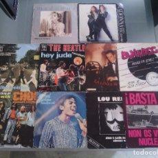 Discos de vinilo: LOTE PACK 10 DISCOS VINILOS SINGLES BEATLES JACKSON MADONNA POP ROCK - OPORTUNIDAD!!!!. Lote 90194920