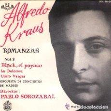 Discos de vinilo: ALFREDO KRAUS - ROMANZAS VOL 3 - EP HISPAVOX 1964. Lote 90202640