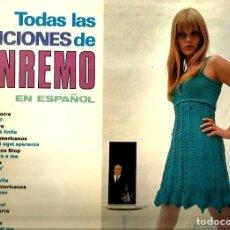 Discos de vinilo: LP CANCIONES DE SAN REMO EN ESPAÑOL ( TONY DALLARA, LOS STO`, LOS CATINOS, LOS FINDER´S, ETC ). Lote 90218668