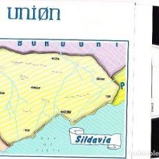 Discos de vinilo: LA UNION - SILDAVIA / LOBO-HOMBRE EN PARIS (PARTY - MIX) SINGLE PROMOCIONAL 1984. Lote 90221212