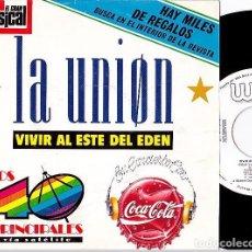 Discos de vinilo: LA UNION + LA DAMA SE ESCONDE. SINGLE PROMOCIONAL 1989. Lote 90221492