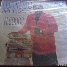 Discos de vinilo: LP DE LISANDRO MEZA, EL GOOOL. EDICION TOP TEN HITS DE 1992 (USA). MUY RARO. D.. Lote 90349548