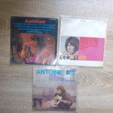 Discos de vinilo: ANTOINE / LOTE 3 EPS 45 RPM / HISPAVOX ESPAGNE ESPAÑA SPAIN. Lote 90351380