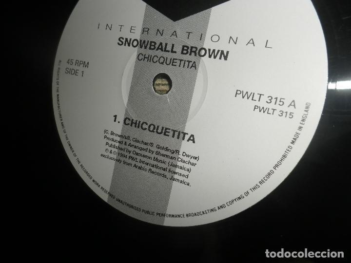 Discos de vinilo: SNOWBALL BROWN - CHICQUETITA MAXI 45 R.P.M. - ORIGINAL INGLES - PWL 1994 - STEREO - - Foto 7 - 90361208