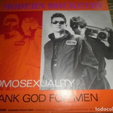 Discos de vinilo: MODERN ROCKETRY - HOMOSEXUALITY - MAXI 45 R.P.M. - ZYX RECORDS 1985 - STEREO -. Lote 90363496