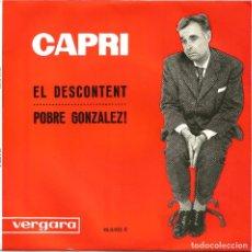 Discos de vinilo: JOAN CAPRI - MONÒLEGS D'HUMOR (1963) - POBRE GONZÁLEZ - EL DESCONTENT. Lote 28751289
