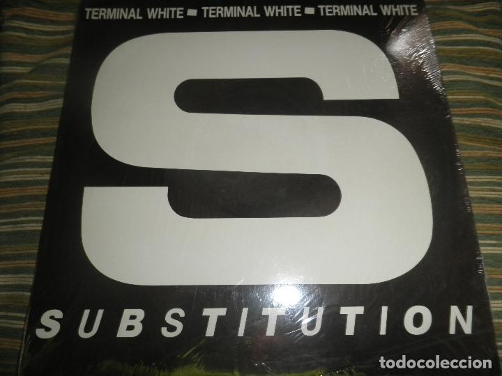 TERMINAL WHITE - SUBSTITUTION - MAXI 33 R.P.M. - ORIGINAL U.S.A. - WHITE 1989 CON ENCARTE - (Música - Discos de Vinilo - EPs - Electrónica, Avantgarde y Experimental)