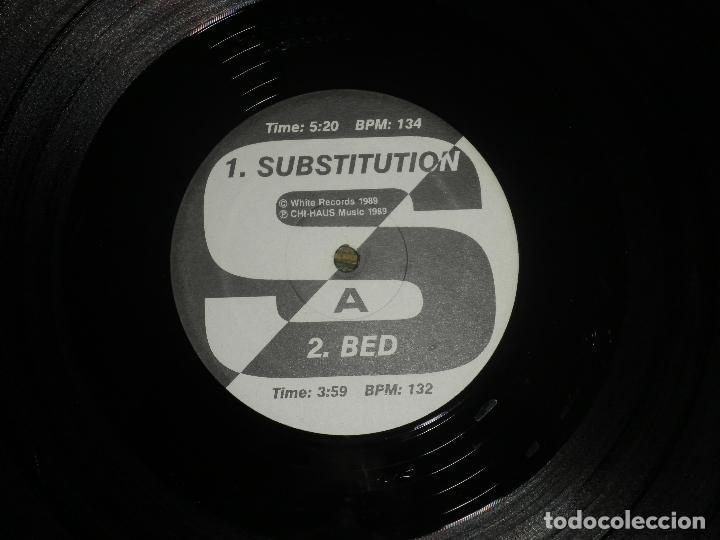 Discos de vinilo: TERMINAL WHITE - SUBSTITUTION - MAXI 33 R.P.M. - ORIGINAL U.S.A. - WHITE 1989 CON ENCARTE - - Foto 5 - 90367640