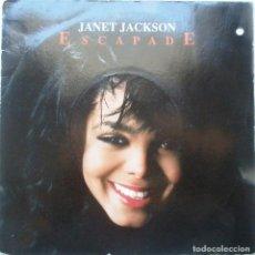 Discos de vinilo: JANET JACKSON ''ESCAPADE'' SINGLE VINILO DE DOS CANCIONES AÑO 1989. Lote 90373300