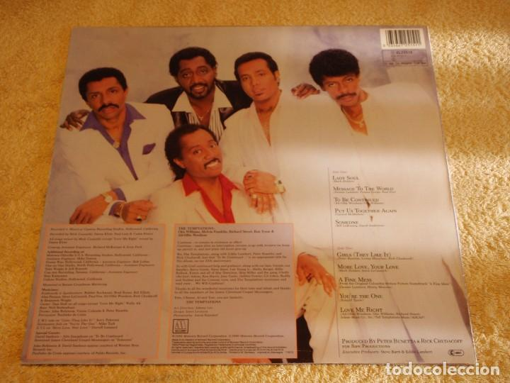 Discos de vinilo: THE TEMPTATIONS ( TO BE CONTINUED... ) 1986-GERMANY LP33 MOTOWN RECORDS - Foto 2 - 90374016