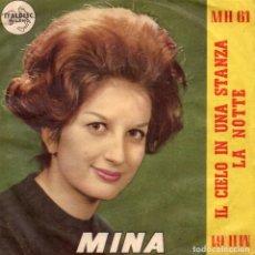 Discos de vinilo: MINA, SG, IL CIELO IN UNA STANZA+ 1, AÑO 19??, MADE IN ITALY. Lote 90407874